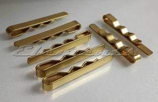 Brass Gold Tone Tie Clip Slide Bar Not Polished